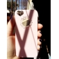 Pink PC Hard Case with Engraving Flower and Heart-Shaped Hole for iPhone 5/5s/SE