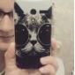 Motorala 모토 G에 대한 선글래스 본 플라스틱 하드 케이스와 함께 멋진 고양이