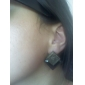 Japan and South Korea new jewelry wholesale vintage earrings square box section black gem earrings E99