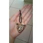 Fashion (Leopard Head Pendant)Alloy Leather Pendant Necklace