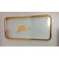 Прозрачный жесткий случае с золотом рамкой для iphone 5/5s