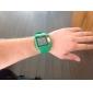 남녀 공통 다기능 디지털 스퀘어 LCD 고무 밴드 손목 시계 (분류 된 색깔)