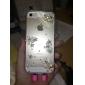 Pour Coque pour iPhone 5 Strass / Transparente / Relief Coque Coque Arrière Coque Fleur Dur Polycarbonate iPhone SE/5s/5