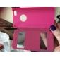 Pour Coque iPhone 5 Avec Ouverture / Clapet Coque Coque Intégrale Coque Couleur Pleine Dur Cuir PU iPhone SE/5s/5