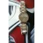 hommes montre-bracelet en acier analogique quartz (argent)