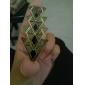 Lureme 레트로 에나멜 삼각형 펜던트 목걸이 (무작위 색깔)