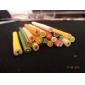 20PCS 귀여운 3D 과일 예술 FIMO 지팡이 막대 장식 못