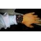 V6 Hombre Reloj de Pulsera Cuarzo Cuarzo Japonés Silicona Banda Negro