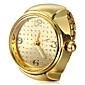 Women's Fashion Watch Ring Watch Wrist watch Quartz Alloy Band Gold