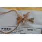 Women's Tower Bowknot Personalized Luxury Fashion Pendant Necklace Imitation Diamond Alloy Pendant Necklace , Party Daily