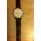 unissex genuína pulseira de relógio de couro de 20mm (preto)