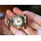 Mulheres Colar com Relógio Quartzo Banda Vintage Bronze