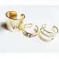 falta dourado estilo rose®european banhado anel (3pcs)