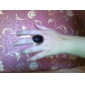 Retro Oval Shape Alloy Resin Studded Ring