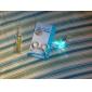 keychain de lumière pendentif en forme de bulbe coloré conduit