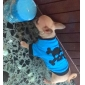 Chien Costume Tee-shirt Tenue Bleu Vêtements pour Chien Printemps/Automne Crânes Animal Cosplay Halloween