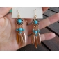 Earring Drop Earrings Jewelry Women Wedding / Party / Daily / Casual Alloy / Resin / Enamel