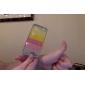 transparent affaire du Rainbow de style TPU cadre mal avec la garde d'écran et un chiffon de nettoyage pour 5/5s (couleurs) de l'iPhone