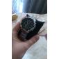 CJIABA 8023 Aço Inoxidável Quartz analógico relógio de pulso dos homens - Preto + Silver (1 x LR626)