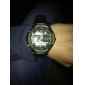 SKMEI Homens Relógio de Pulso Relógio Militar Relógio Esportivo Quartzo Quartzo Japonês Alarme Calendário Impermeável LED Dois Fusos