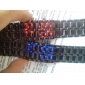 Heren Polshorloge Digitaal LED Kalender Roestvrij staal Band Zwart