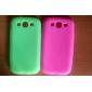 Capinha Para Samsung Galaxy Samsung Galaxy Capinhas Antichoque Capa Traseira Côr Sólida Silicone para S3