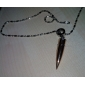 Cool Domineering Personality Silver Bullet Golden Black Titanium Steel Boys Necklace