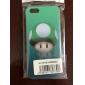 Caisse arrière de plastique de modèle de tête de champignon pour iPhone 5/5S