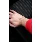 Sweet Golden Women's Alloy Chain & Link Bracelet (1 Pc)