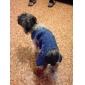 Собака Брюки Одежда для собак ковбой Мода Джинсы Синий Костюм Для домашних животных