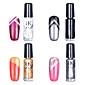 4pcs BK Multi-Color Coat Nail Art décoratif Top polonais (5 ml, Couleur n ° 1-n ° 4)