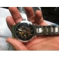 Men's Auto-Mechanical Gold Skeleton Steel Band Wrist Watch (Assorted Colors)