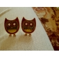 Stud Earrings Alloy Simulated Diamond Animal Shape Owl Jewelry Daily