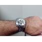 남성 스포츠 시계 석영 일본 쿼츠 LCD 달력 크로노그래프 방수 듀얼 타임 존 스테인레스 스틸 밴드 블랙 실버 상표