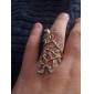 Anéis Pesta / Casual Jóias Liga Feminino Anéis Statement Dourado