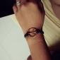 eruner®unique металл мир sympol кожаный браслет (случайные цвета)