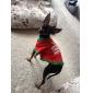 Chien Tee-shirt Vêtements pour Chien Respirable Vacances Noël Lettre et chiffre Costume Pour les animaux domestiques
