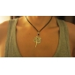 Fashion  Tree Brown Leather Pendant Necklace (1 Pc)