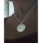 Pendant Necklace Silver Plated Pendant Necklace , Wedding Daily