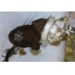 Dog Coat Hoodie Dog Clothes Keep Warm Reversible Christmas Snowflake Brown Red Costume For Pets