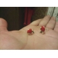 Серьги-гвоздики Мода Pоскошные ювелирные изделия Стразы Искусственный бриллиант Сплав Бижутерия Для Для вечеринок Повседневные Спорт