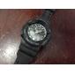 Masculino Relógio de Pulso Quartzo LCD Calendário Cronógrafo Dois Fusos Horários alarme Borracha Banda Preta Branco Vermelho Roxa