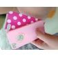 rosa caso difícil PC com flor gravura e buracos em forma de coração para o iphone 5 / 5s / SE