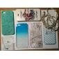 용 아이폰5케이스 충격방지 / 엠보싱 텍스쳐 케이스 뒷면 커버 케이스 꽃장식 하드 PC iPhone SE/5s/5