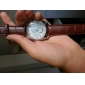 Masculino Relógio de Pulso Quartzo PU Banda Preta Marrom Branco Preto Marron Marron/Branco