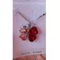 Femme Pendentif de collier Trèfle à Quatre Feuilles Cristal Strass Platiné Alliage Basique Mode Simple Style bijoux de fantaisie Bijoux