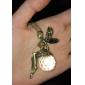 Vintage Кристалл Fairy Maiden Сплав ожерелье