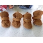 Dog Boots / Shoes Snow Boots Keep Warm Fashion Solid Brown Pink For Pets