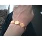 Позолоченный браслет для женщин и мужчин, из золота 18K, 19см