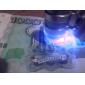 super mini microscope 60x avec éclairage LED 2-+ argent / monnaie détecter la lumière UV (3 * LR1130)